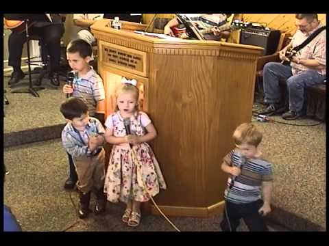 Sunday School Kids Singing & Brother Luke's Pledge of Allegiance