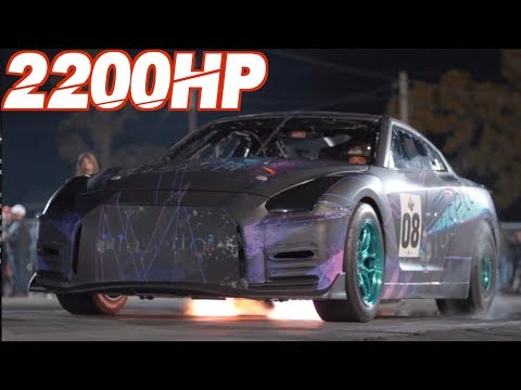 Mother Pilots 2200HP GTR and Son Cuts Perfect .000 Reaction Time (First Time Drag Racing!)