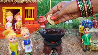 Miniature Holi Special Gujiya & Thandai | Gujiya Recipe | Thandai Recipe | Miniature Cooking #40 |