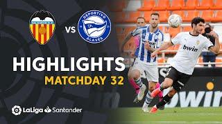 Highlights Valencia CF vs Deportivo Alavés (1-1)