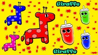 Colors for Children to Learn with Little Baby Fun Play Giraffe Xylophone Color Toy Kids Baby Monster