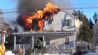 Bowling Green Ave Dwelling Fire 2/26/14 Morrisville, PA.