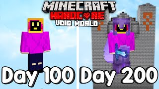 I Survived 200 Days Of Hardcore Minecraft, In A Void Only World.
