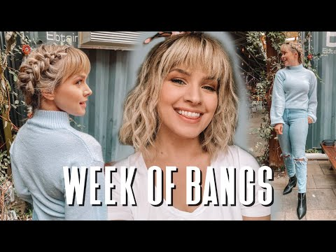 I Wore Bangs For a Week…Hairstyles for Bangs – Kayley Melissa