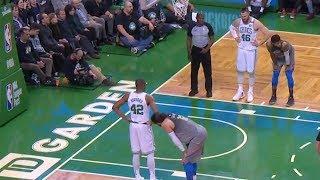 Steven Adams Finds Himself a Scratching Post   Thunder vs Celtics   2017-18 NBA Season