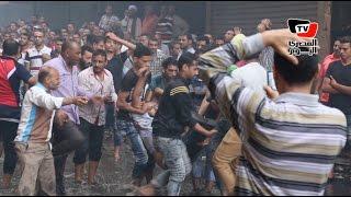 أهالي «الرويعي» ينقذون مواطن في حريق العتبة     -