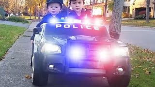 Power Wheels Police 1 - The Ice Cream Man | Kids Cars Kid Trax