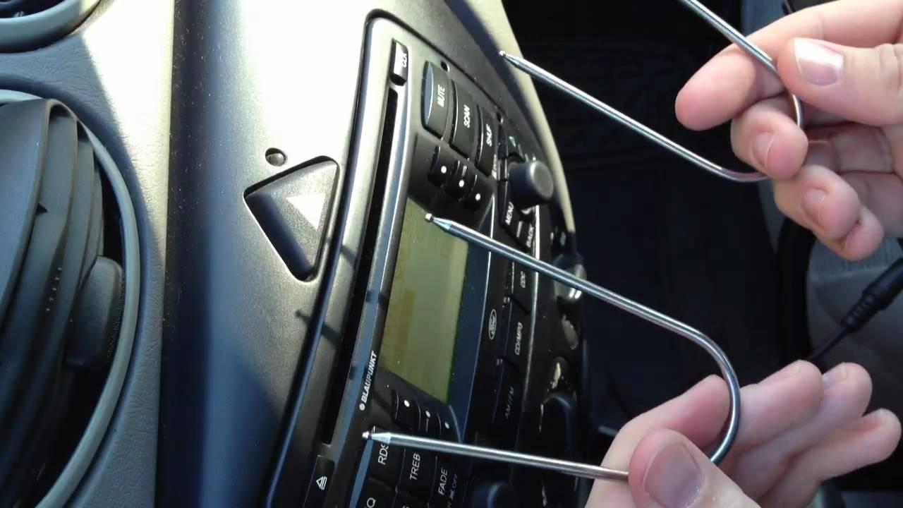 confirmed ford focus blaupunkt stock radio  aux input