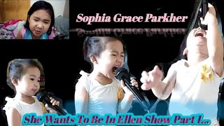 SOPHIA GRACE PARKHER singing when she was 2years old dreaming to be on Ellen show one day. Part 1
