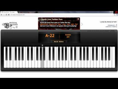 Titanic on Virtual Piano