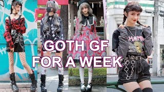 Wearing Only DARK ALTERNATIVE STYLES For a Week
