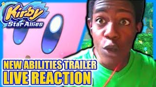 Kirby: Star Allies New Abilities Trailer - LIVE REACTION!!!