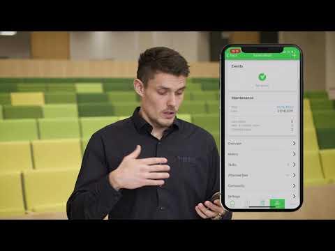 Tilgå og administrer et projekt i EcoStruxure Facility Expert app'en på en smartphone eller tablet