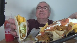ASMR Eating Taco Bell Chipotle Cheddar Double Stacked Taco
