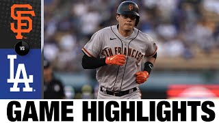 Giants vs. Dodgers Game Highlights (7/19/21)   MLB Highlights