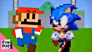 Gumbino: Video Game Competition (S01E02) Mario vs Sonic