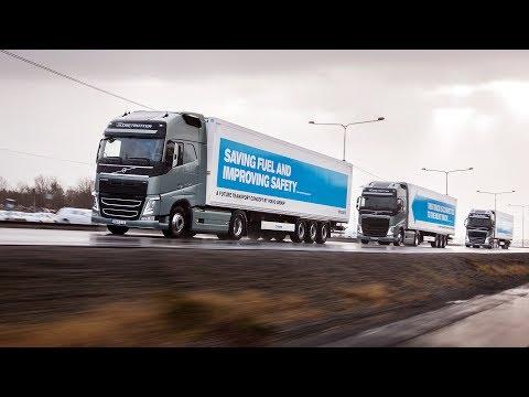 Volvo Trucks - Explaining the advantages with platooning