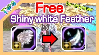 "Free Shiny White Feather / ""Crystal Wings"" / Dragon Nest SEA"