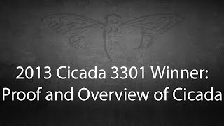 2013 Cicada winner's overview of 3301 - First in new Cicada 3301 series