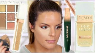 NEW FLOWER BEAUTY MAKEUP TESTED! DRUGSTORE HITS AND MISSES |  Casey Holmes