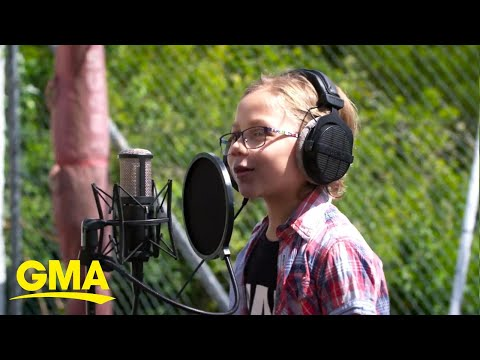 Young school kids create rap song about being bored at home