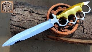 Turning a Rusty Bearing into a Razor Sharp TRENCH KNIFE