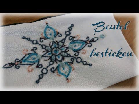 Beutel besticken * DIY * Embroidery