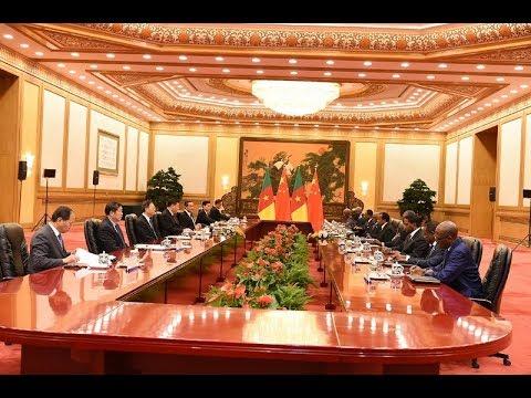 S.E. Paul BIYA à Beijing – Séance de travail Cameroun – Chine, 22 mars 2018