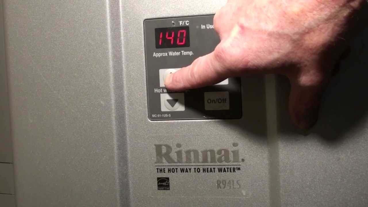 Increase Max Temperature On A Rinnai Tankless Water Heater