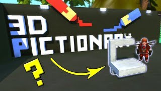 Can YOU Guess?!  3D PICTIONARY RETURNS!  Scrap Mechanic Multiplayer Monday! Ep 67