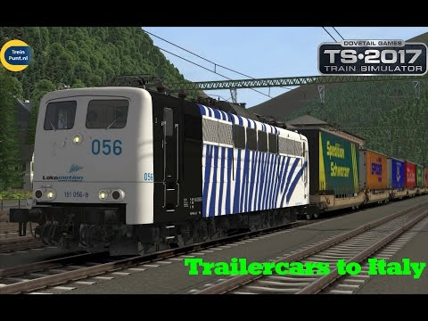 Trailercars to Italy | vR BR 151 056-9 Lokomotion | Train Simulator 2017