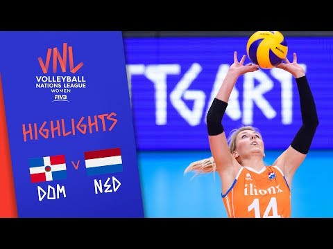 DOMINICAN REPUBLIC vs. NETHERLANDS - Highlights Women | Week 4 | Volleyball Nations League 2019