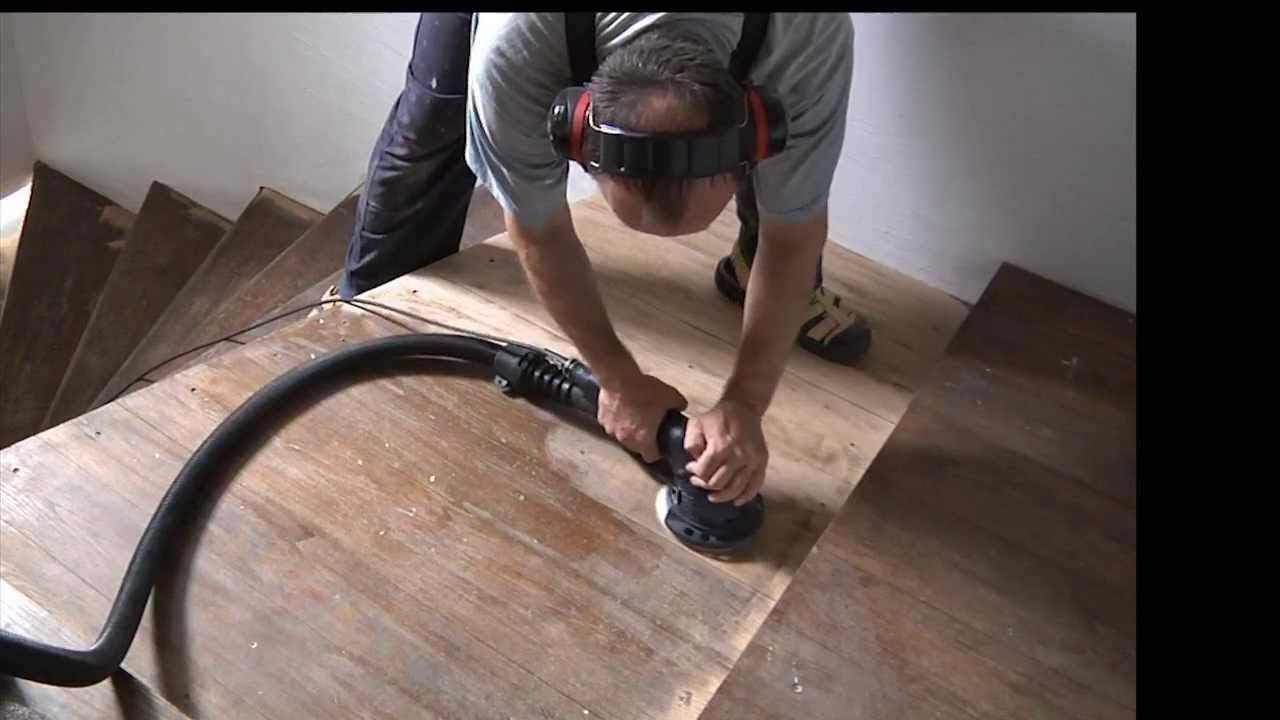 Sanding A Staircase Youtube