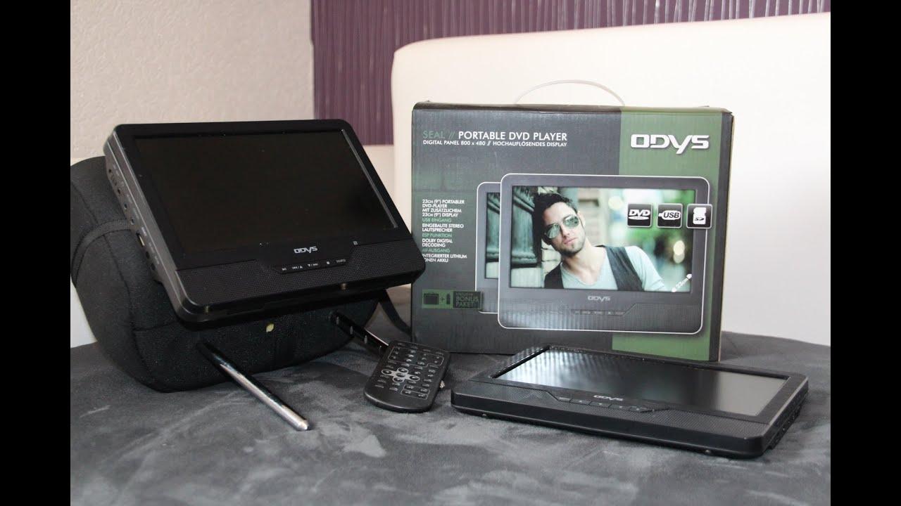 odys tragbarer dvd player mit zus tzlichem bildschirm. Black Bedroom Furniture Sets. Home Design Ideas