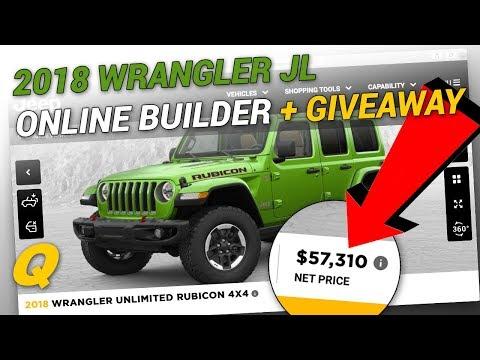 2018 Jeep Wrangler JL Vehicle Builder + Giveaway