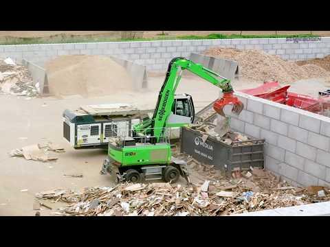 SENNEBOGEN 818 E - Recycling of waste wood, Molson Group, UK