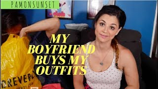 Boyfriend Buys Girlfriend's Outfits Challenge || ItsAlexClark Collab