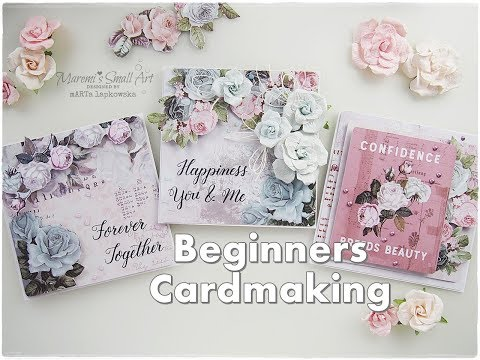 2019 NEW Cards! Romantic Love Valentines Cardmaking for Beginners ♡ Maremi's Small Art ♡