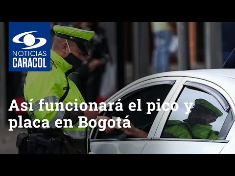 Así funcionará el pico y placa en Bogotá desde el 22 de septiembre