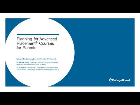 Planning for Advanced Placement for Parents