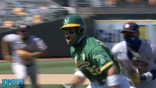 Ramón Laureano charges the Astros dugout, a breakdown