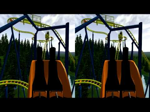 3D Rollercoaster: Spinout (3D for PC/3D phones/3D TVs/Crossed Eyes)