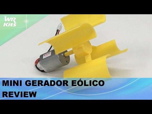 MINI GERADOR EÓLICO REVIEW