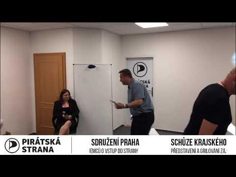 Představení a grilování kandidátů 5.9.2019 Piráti Praha