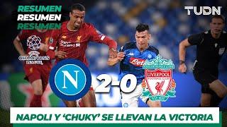 Resumen y Goles Napoli 2 - 0 Liverpool | Fase de Grupos - UEFA Champions League - Jornada 1 | TUDN