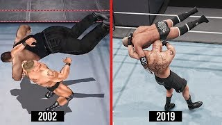 WWE 2K19 The Evolution Of F5! (WWE Games)