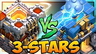Town Hall 11 3-STARS TWO Town Hall 12 Clash of Clans Clan War League!