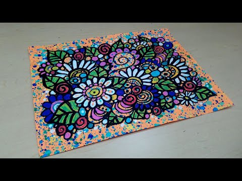 Drawing Whimsical Flower Doodles with Paint Markers #doodling