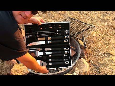 BBQ Grill Tool Set Camping Outdoors
