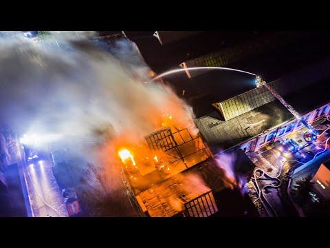Potężny pożar na terenie ZNTK w Gliwicach